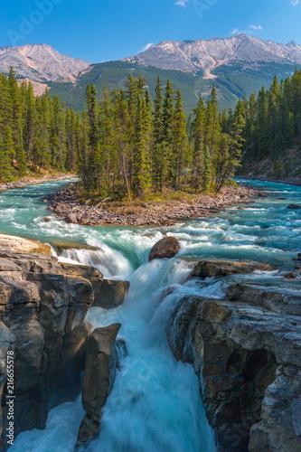Sunwapta Falls, Rocky Mountains Canada - 216655578