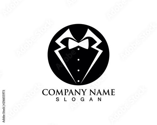 Fototapeta Tuxedo man logo and symbols black icons template obraz na płótnie