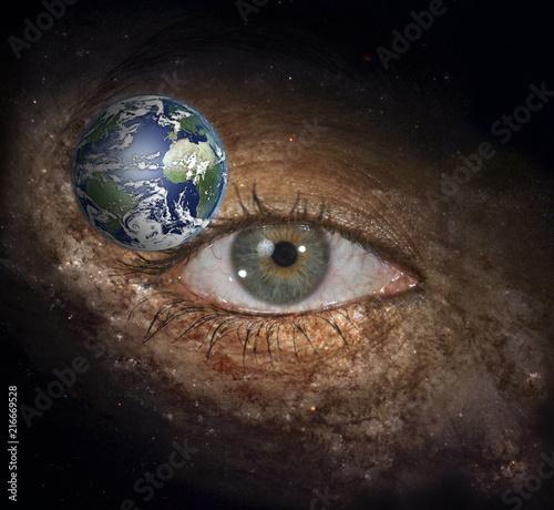 Papiers peints Echelle de hauteur The eye of space