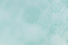 Blank Teal Floral Background P...