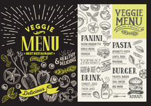 Veggie Menu For Restaurant. Ve...