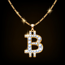 Bitcoin Sign Jewelry Necklace ...