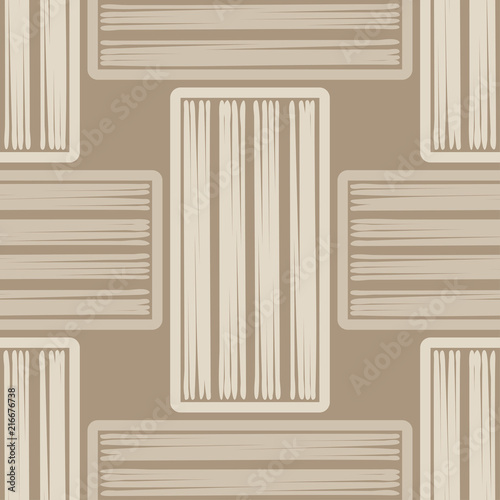 Fototapety beżowe seamless-abstract-geometric-pattern-brown-floor-with-wooden-texture-brushwork-hand-hatching-textile-rapport