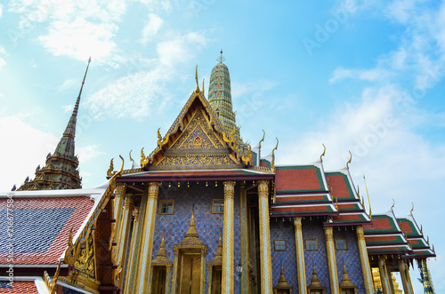 Fotobehang Bedehuis Bangkok, Thailand-August 13, 2016: Wat Phra Kaew temple