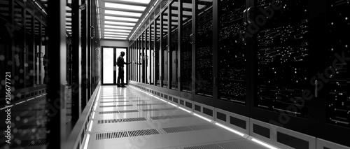 Fotografía  Backup cloud data service center. 3D rendering