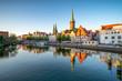 canvas print picture - Historische Altstadt von Lübeck, Schleswig-Holstein, Deutschland