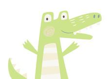 Crocodile Baby Print