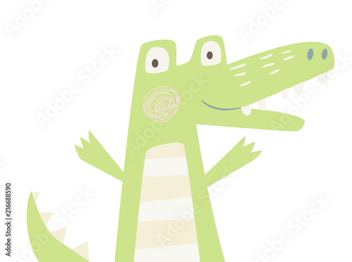 Crocodile baby print Fototapeta