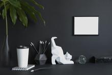 Black Design Room With Mock Up...
