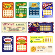 Lottery Ticket Vector Lucky Bi...