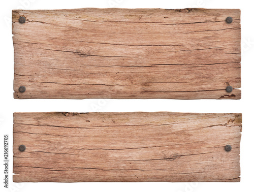 Papiers peints Bois old nature wooden sign with nails