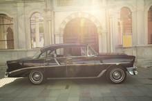 Antique Car -Classic Black Ret...
