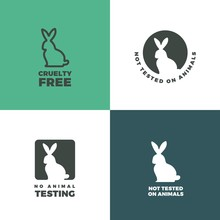 Set Of Icons With A Rabbit As ...