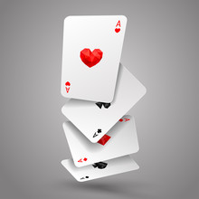 Set Of Four Ace Playing Cards ...