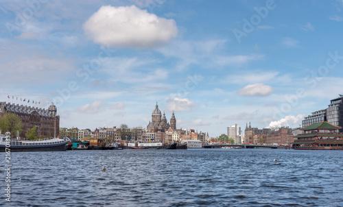 Photo  Amsterdam historic skyline
