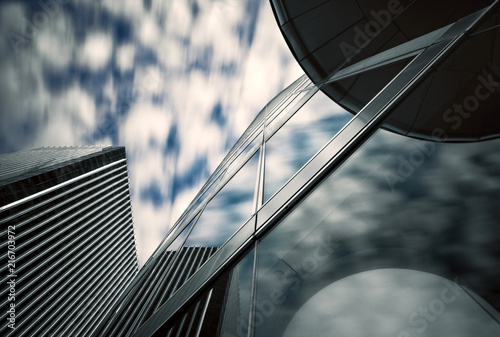 Cadres-photo bureau Batiment Urbain Vers le ciel