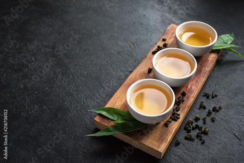 Staande foto Thee green oolong tea