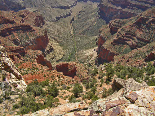 Keuken foto achterwand Chocoladebruin View into Grand Canyon at Cape Royal