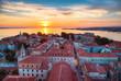 canvas print picture - Sonnenuntergang in Zadar