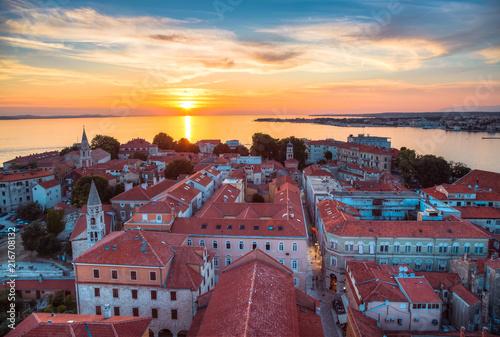 Obraz Zachód słońca w Zadarze - fototapety do salonu