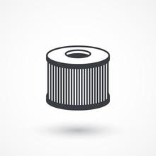 Car Air Filter Vector Icon. Au...