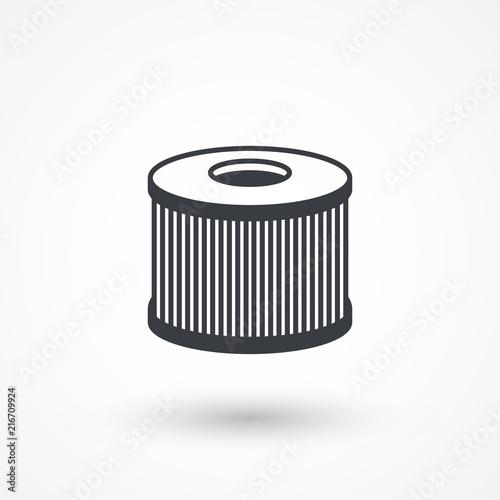 Fotografia, Obraz  Car air filter vector icon