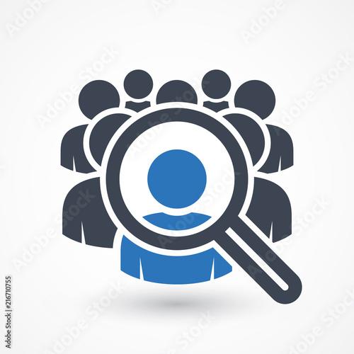 Carta da parati Human resources concept, target market and audience, focus group, public relatio