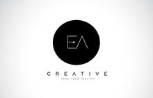 EA E A Logo Design With Black ...