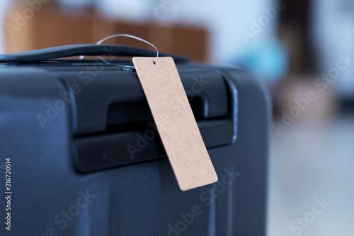 Canvastavla luggage with blank tag