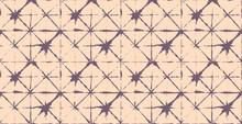Artistic Tie Dye Geisha Ornament, Japanese Kimono Vector Seamless Pattern. Asian Fashion Textile Watercolour Batik Prints, Wabi Sabi Ikat Geo Texture. Trendy Shibori Geometric Seamless Summer Pattern.