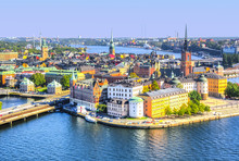 Stockholm Old Town (Gamla Stan) Skyline From City Hall Top, Sweden