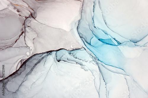 Atrament, farba, streszczenie. Zbliżenie obrazu. Kolorowe abstrakcyjne malarstwo tła. Farba olejna o wysokiej teksturze. Szczegóły wysokiej jakości. Atrament alkoholowy nowoczesne malarstwo abstrakcyjne, współczesna sztuka współczesna.