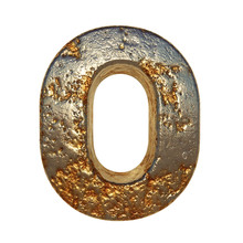 Rusted Metal Letter O