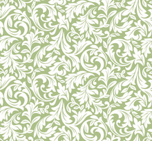 Flower Pattern. Seamless White...