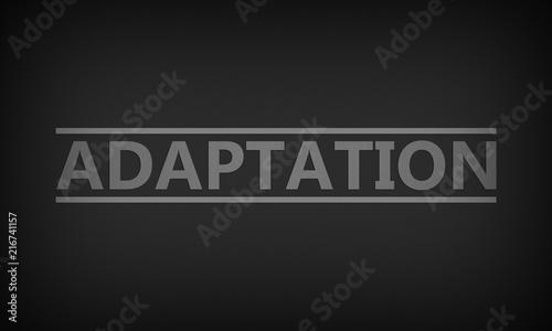 Adaptation Canvas Print