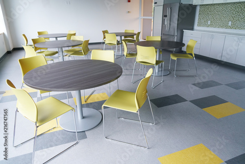 Tablou Canvas close up on office cafeteria interior view