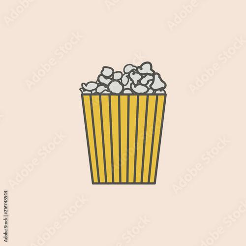 Fotografía  Popcorn line icon