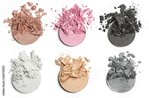 Obraz na plátne Crushed eye shadow for make up. Isolated