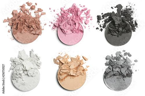 Obraz Crushed eye shadow for make up. Isolated - fototapety do salonu