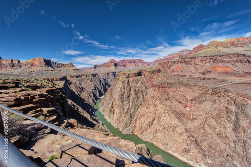 Foto op Aluminium Zalm AMAZING view of the Grand Canyon National Park from the bottom looking up and viceversa