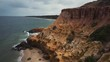 Aerial footage of the shipwreck, HMVS Cerberus at Half Moon Bay in Melbourne Australia
