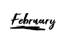 February Black Lettering Month Calendar