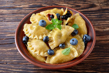 Blueberry Dumplings, Pierogi, ...