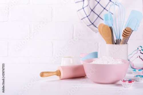 Bakery utensils Wallpaper Mural