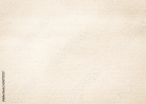 Poster Tissu Canvas texture background of cotton burlap natural fabric cloth in old aged beige brown sepia for wallpaper and design backdrop