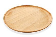 Round Wooden Tray Or Natural W...