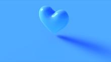 Blue Heart 3d Icon 3d Illustration 3d Render