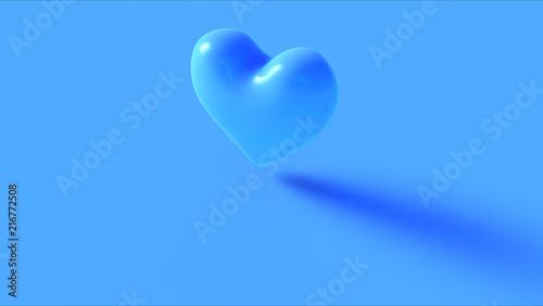 Fotografía  Blue Heart 3d Icon 3d illustration 3d render