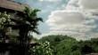 Timelapse tilt up of villa overlooking valley in Ubud Bali