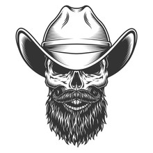 Skull In The Cowboy Hat